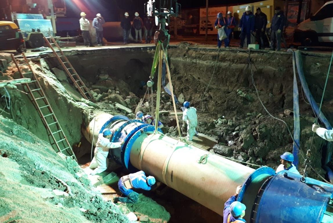 La reparación del conducto troncal de Alta Córdoba en imágenes