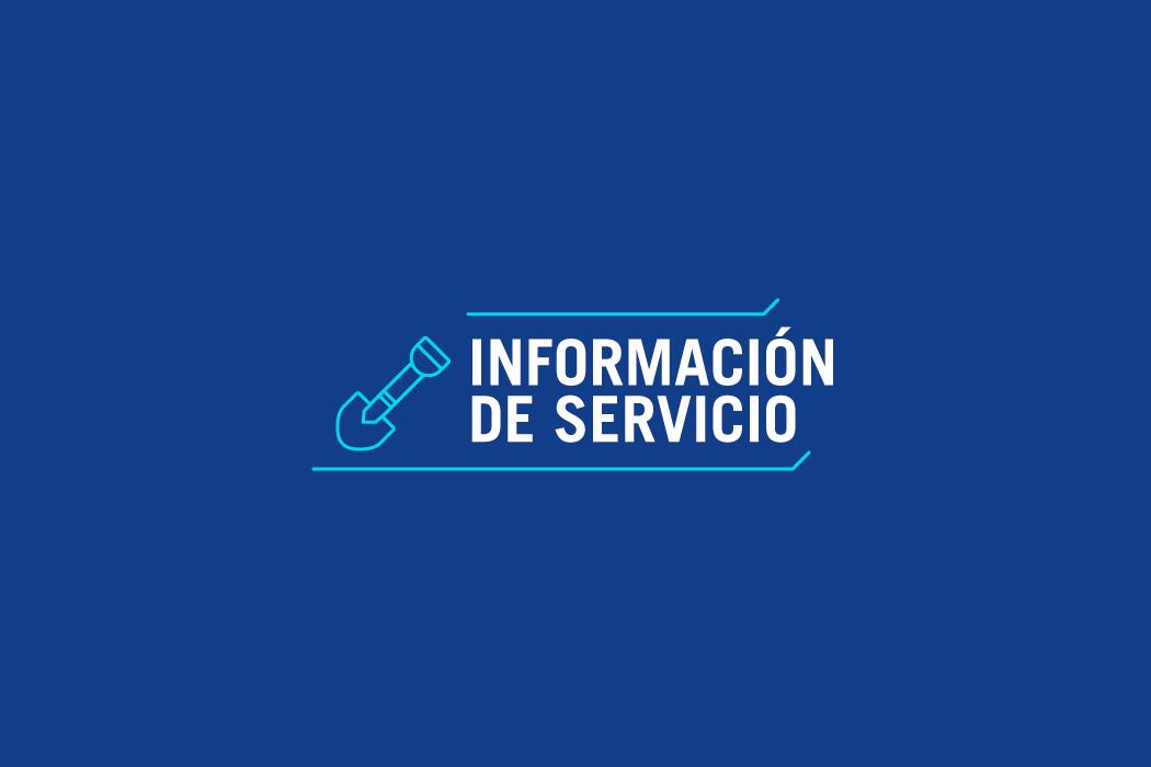 Información de Servicio - Barrio General Paz 11/01