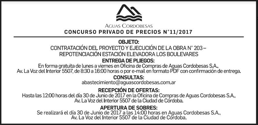 Concurso privado de precios Obra Nº 11/2017