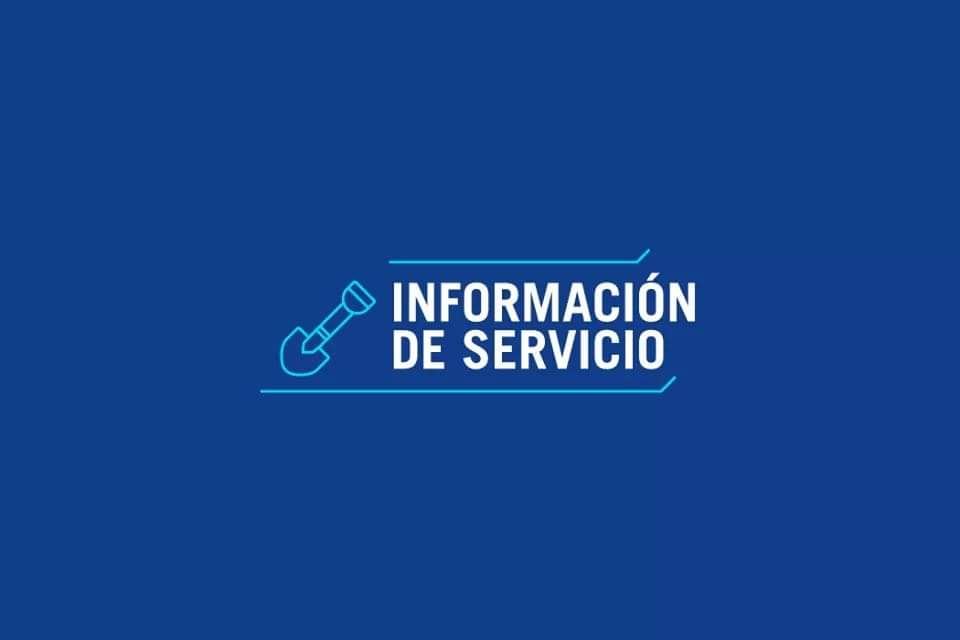 Información de Servicio - Planta Suquía