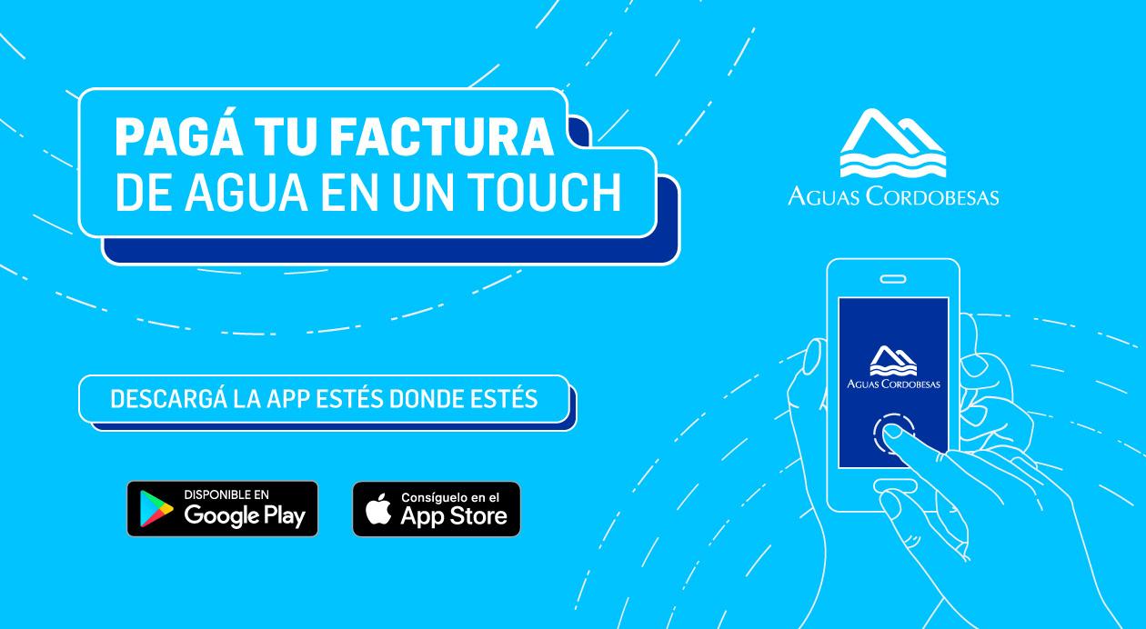 Ahora también podes pagar el agua desde la App