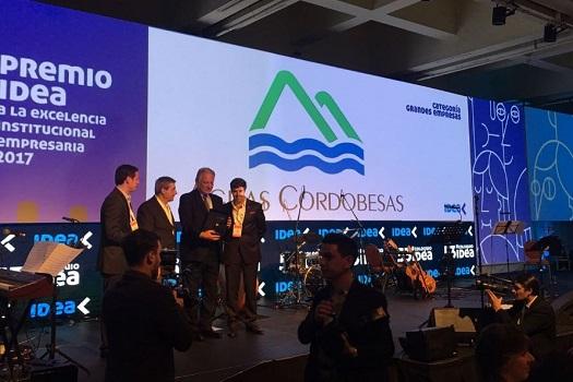 Aguas Cordobesas gana el Premio IDEA a la Excelencia Institucional Empresaria
